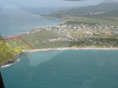 "One remaining beachfront lot ""F"" (29,578 sq. ft. of beachfront land) is now up for sale at Sandy Beach Vieux-Fort, Saint Lucia."
